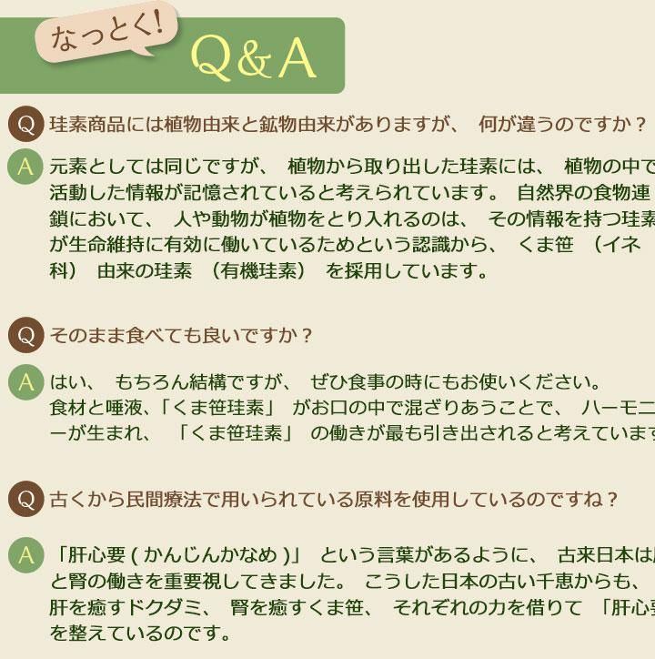 くま笹珪素 Q&A PC用