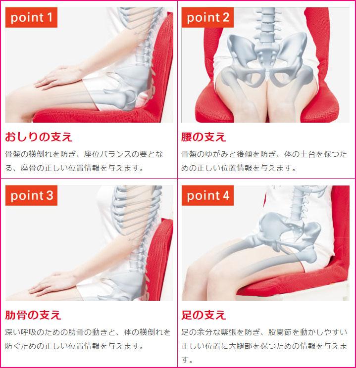 座るだけで背筋がピンと!「 ピント 」【座るだけで体のゆがみをなくし正しい姿勢に】(姿勢、腰、座骨、肩・腰・お尻)
